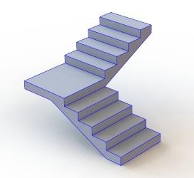 Расчет на прочность лестницы